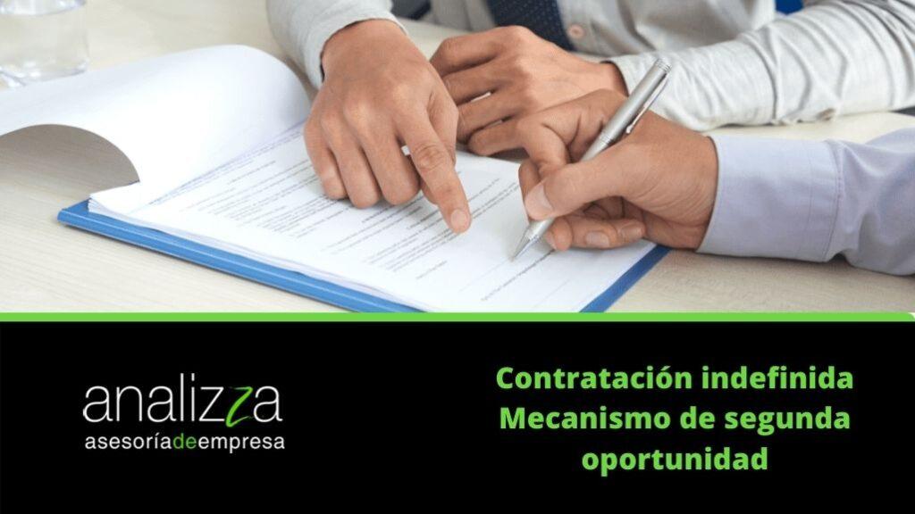 Contratacion indefinida Mecanismo de segunda oportunidad Portada
