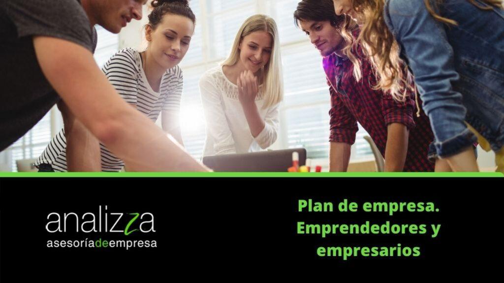 plan de empresa emprendedores y empresarios portada