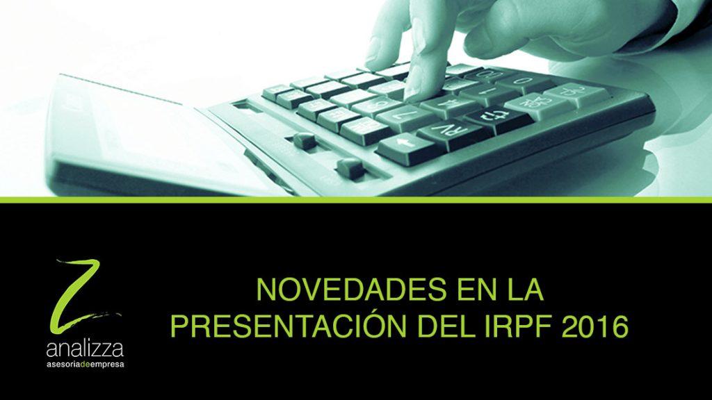 asesoria en Malaga cabecera novedades IRPF 2016